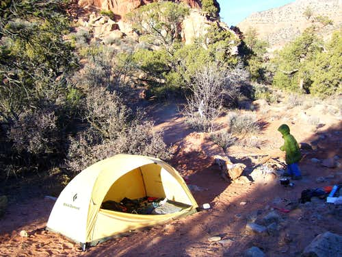 Camping at Fourmile Spring