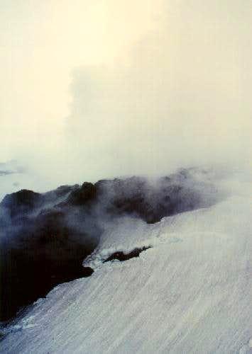 Steam rising hundreds of feet...