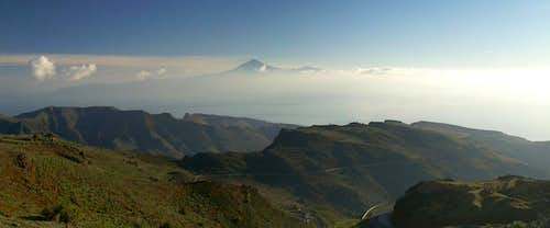 Tenerife above the eastern part of La Gomera