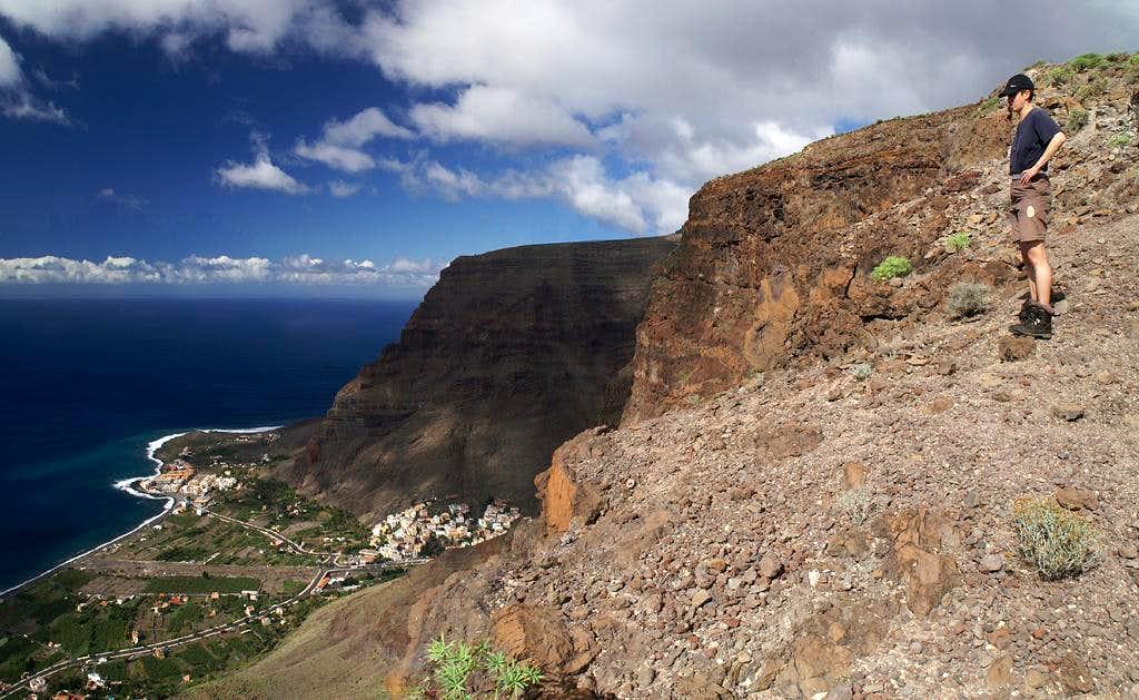Standing 700m above Valle Gran Rey