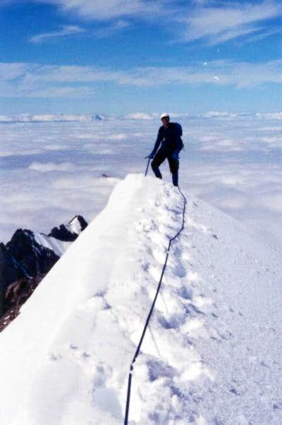Miguel Tello on summit of...