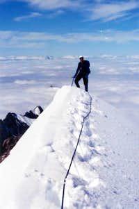 Miguel Tello on summit of...