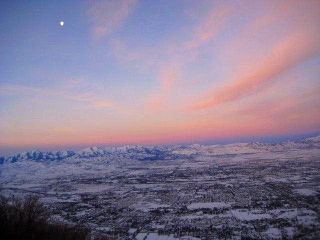 Pre-dawn view of the Oquirrhs