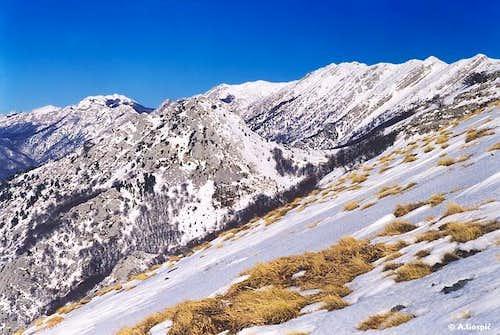 Debelo Brdo ascent view