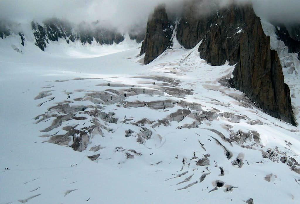On the Glacier du Géant