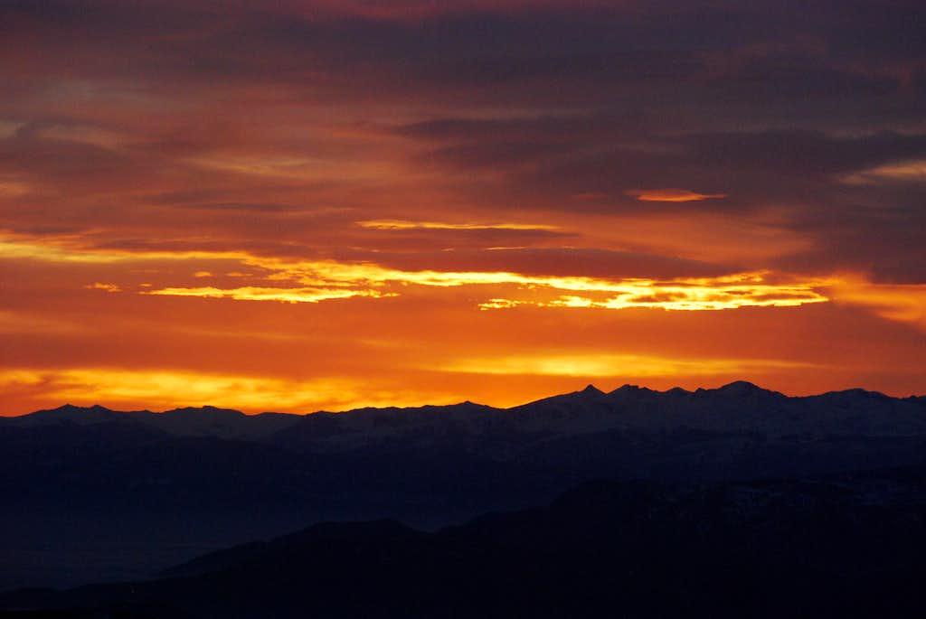 Orange Sunset on the way to Carmo