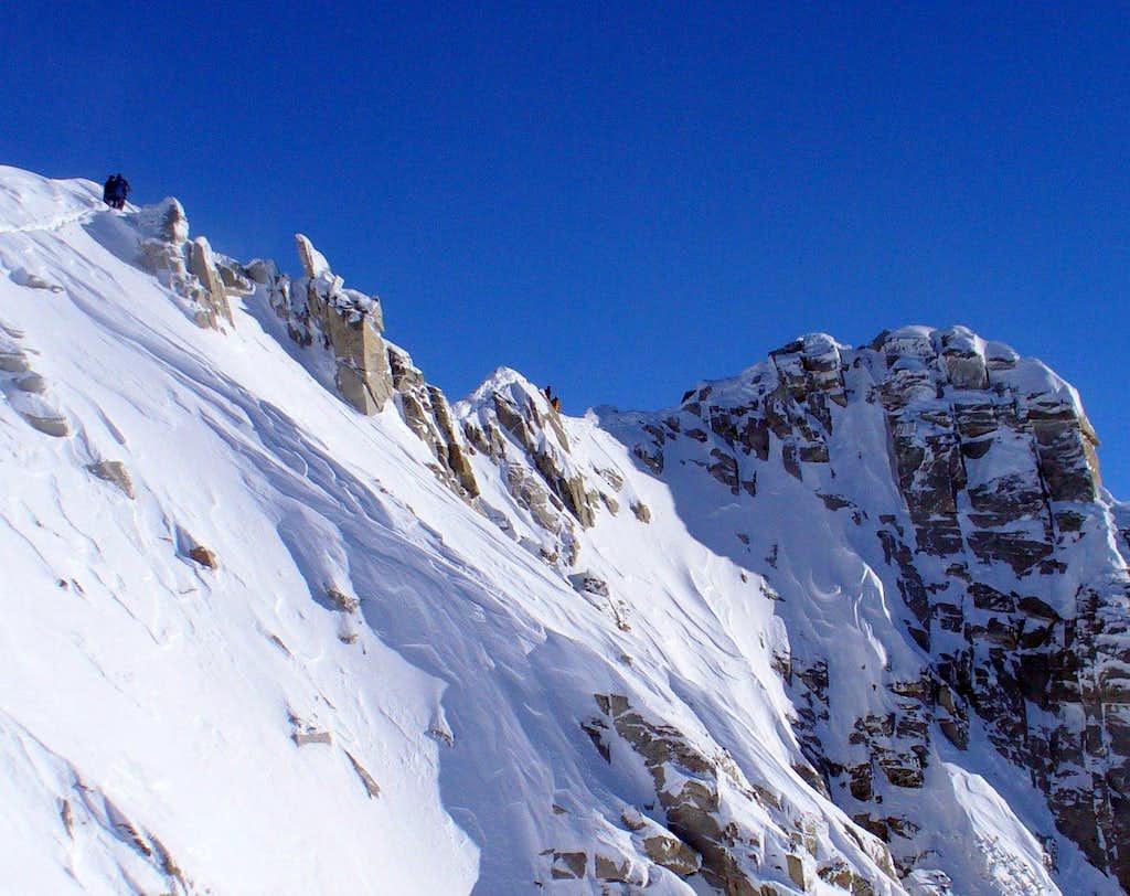 Summit ridge of Lone Peak