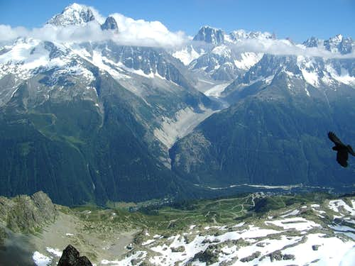 from the summit of Aiguilles Crochues