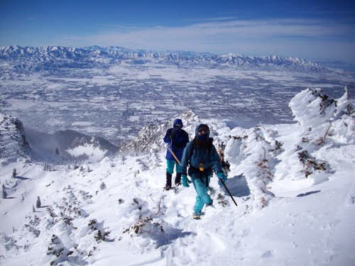 Dmitry and Judy ready to take the summit