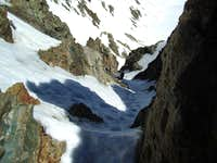 High in the North Couloir