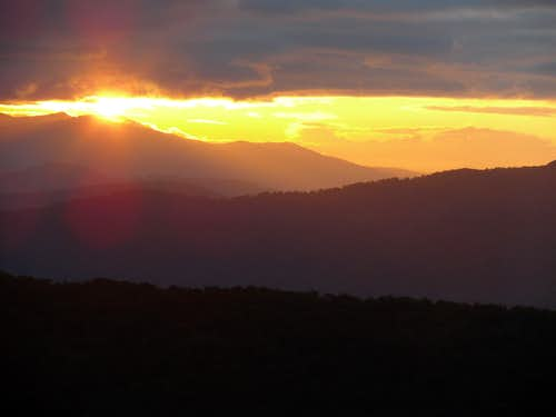 Sunset at Linville Gorge