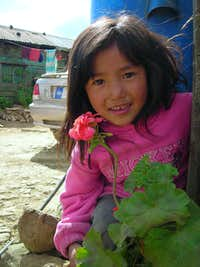 Tanghkul girl on Christmas