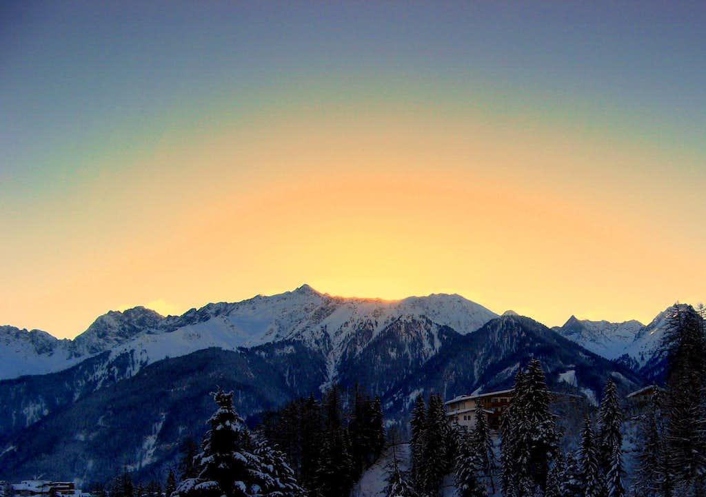 Great sunrise Pfroslkopf (3147m)