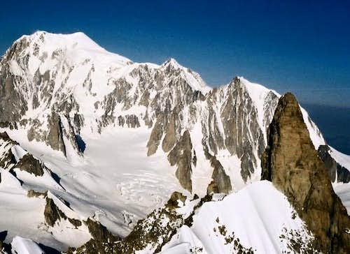 Mont Blanc from the Rochefort Ridge