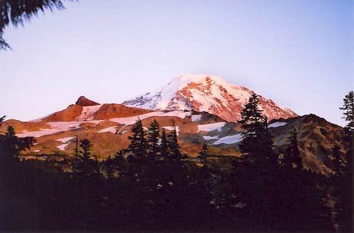 Evening alpenglow on...