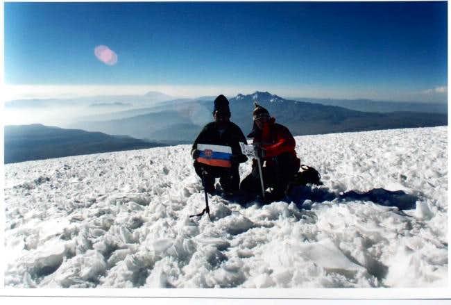 Atop Coropuna, december 2001...