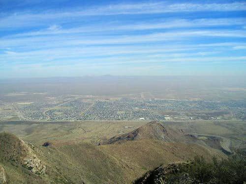 North East El Paso from North Franklin