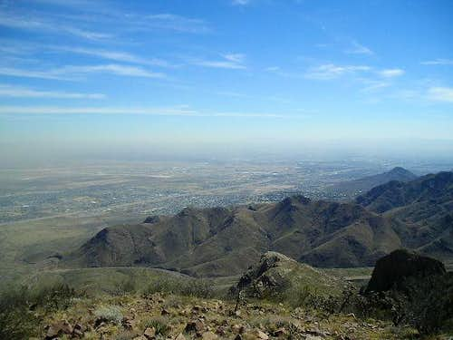 East El Paso from North Franklin Mountain
