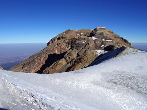 Iztaccihuatl Summit across Belly Glacier