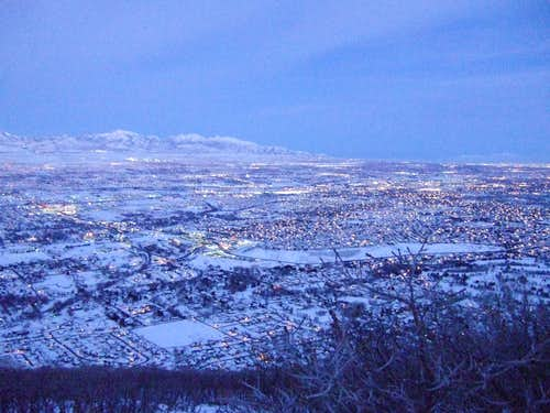 Salt Lake Valley at dawn