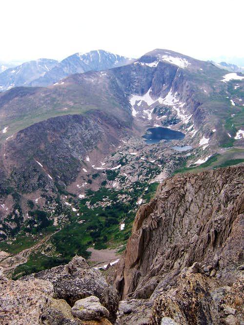 Fairchild from summit of Mummy Mountain