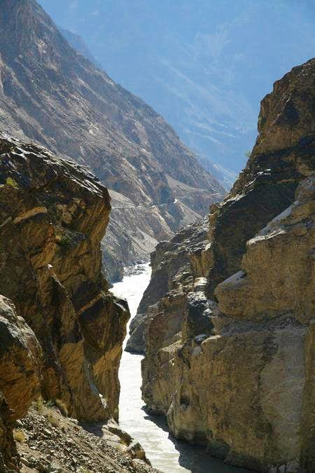 River Indus Gorge, Karakoram, Pakistan
