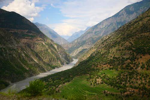 A village along Indus River, Pakistan