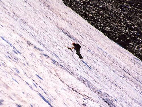 Kim Alluise on the ice sheet....