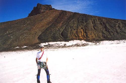 Me and the summit behind....