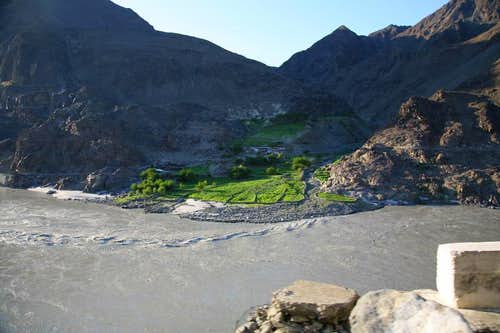 A Village along River Indus, North Pakistan