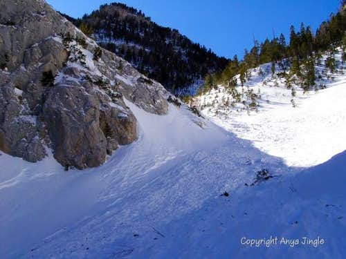 Echo Canyon after an avalanche