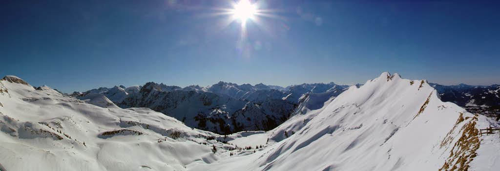 Panorama from Zeigersattel