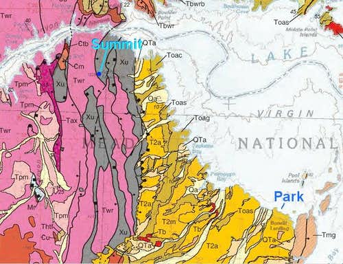 Arch Mountain Geologic Map