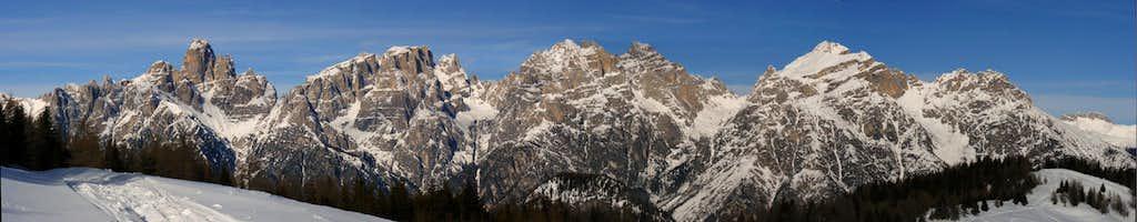 Dolomiti di Sesto - panorama of the south-eastern ridge