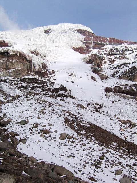 View of the Chimborazo summit...