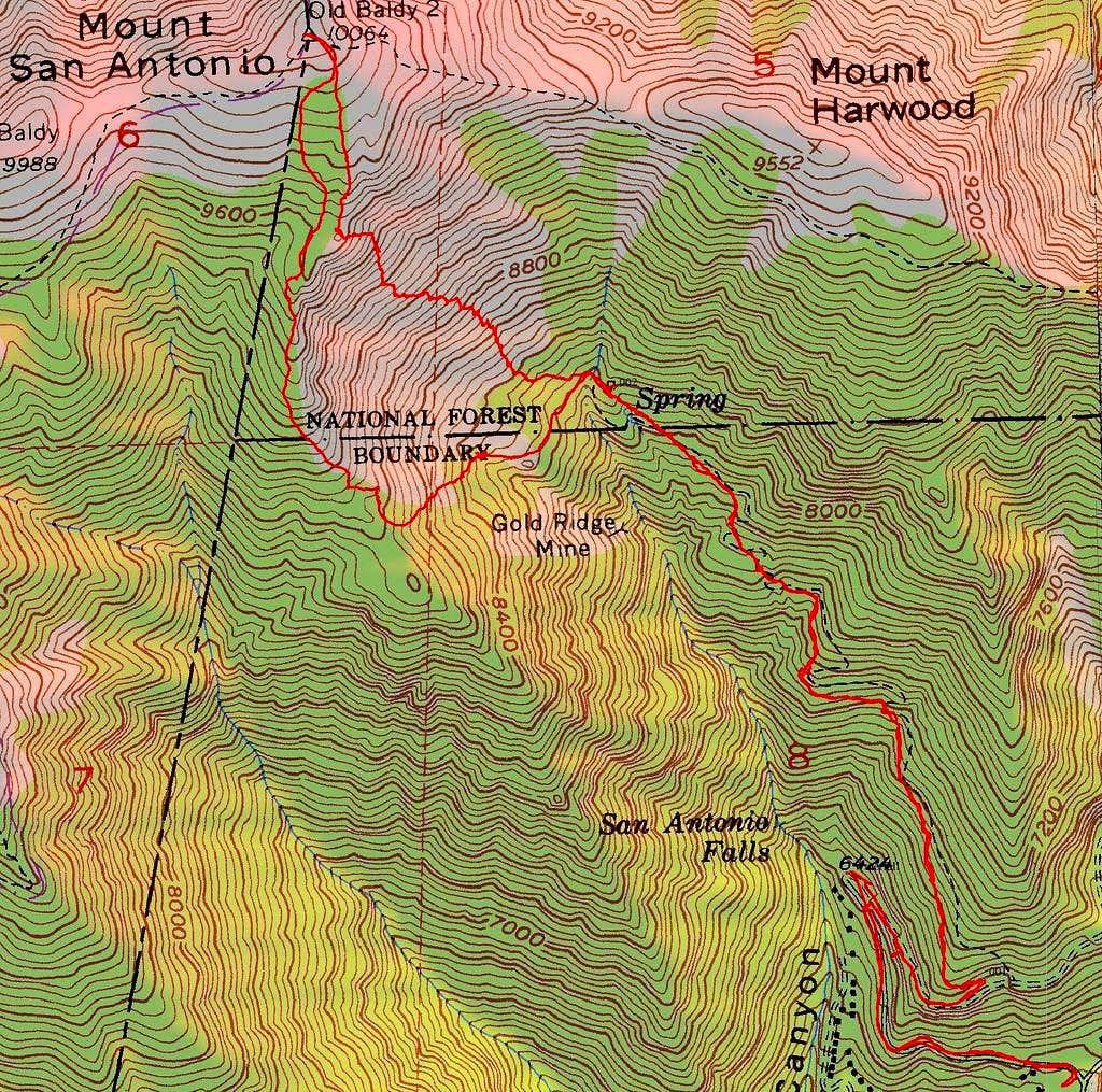 Mount Blady Topo Map