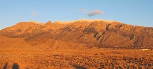 North Sandia Peak, as seen...