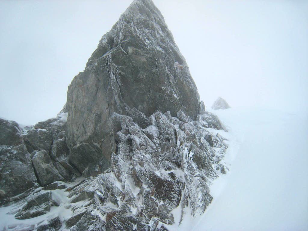 Icy Rock Outcrop