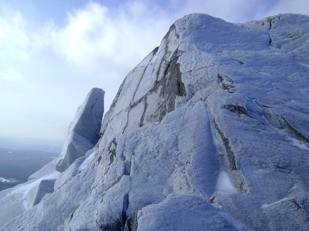 Icy summit