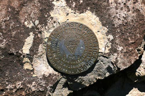 Cedar Mountain bench mark