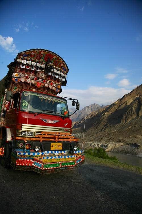 Truck On KKH, Karakoram., Pakistan