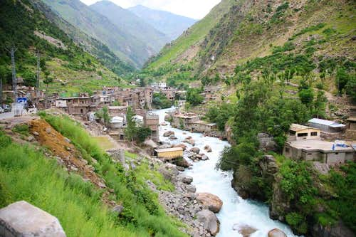 Small Town along Karakoram Highway, Pakistan