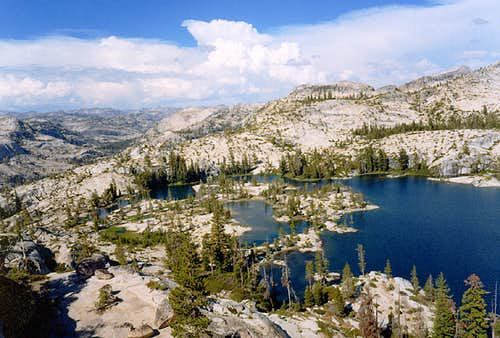 Boundary Lake, Bartlett Peak