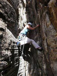 Climbing the waterfall