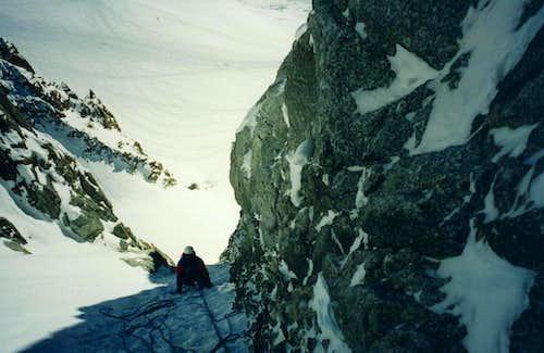 Climbing A/G Couloir Tacul