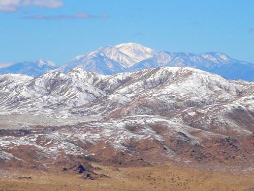 Quail Mountain and San Gorgonio