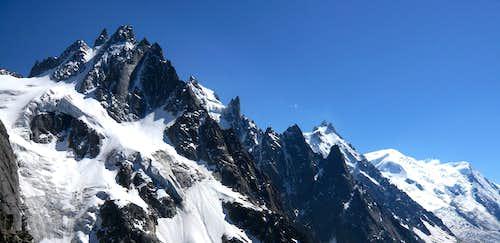 Les Aiguilles with Mont Blanc