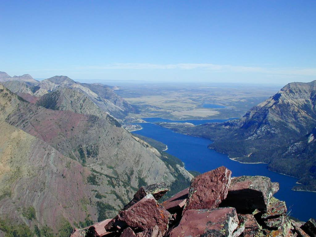 Waterton Townsite from Campbell Mountain