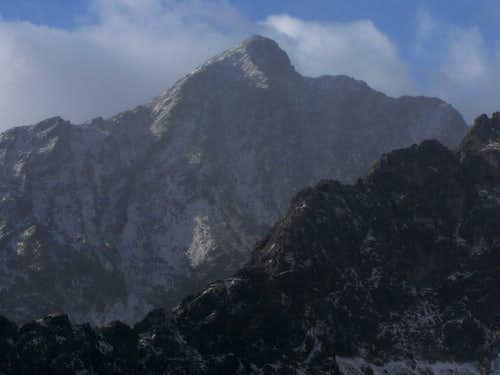 Kriváň (2495 m) seen from Sedielková kopa (2061 m)