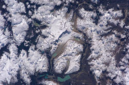 Cerro San Lorenzo from space